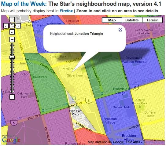 Toronto Star Neighbourhood Map, v4.1