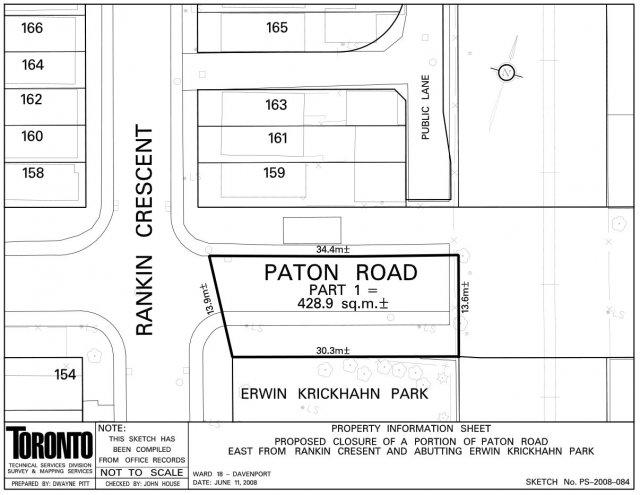 Erwin Krickhahn Park, Paton Rd. extension
